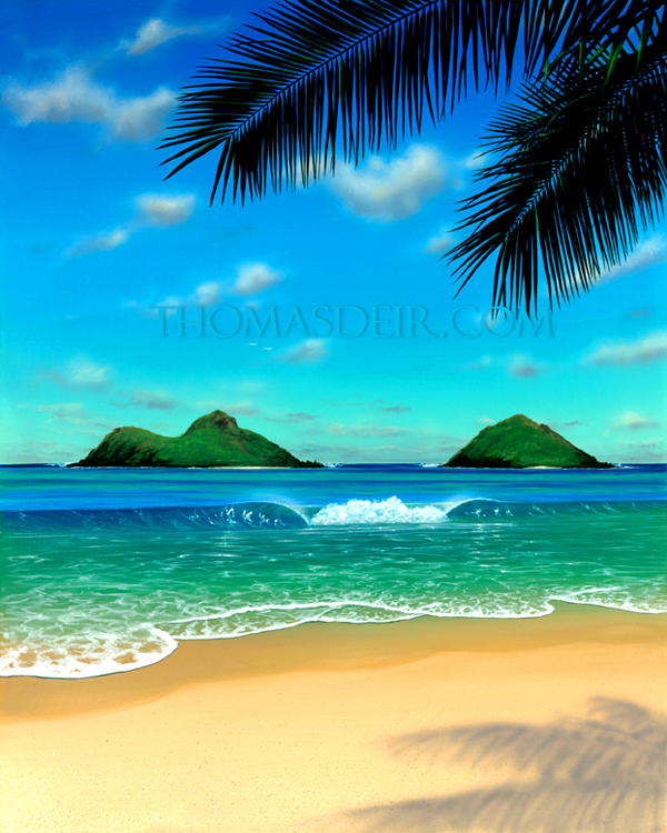 Island Beach Scenes: TEC Ventures Hawaii--Retail, Wholesale Art, Home Decor And